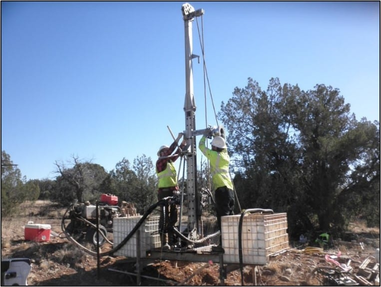 Drilling with a mobile (small footprint) drill rig